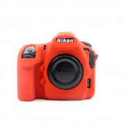 Soft Silicone Protective Shell Cover for Nikon D850 Digital SLR Camera - Red