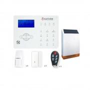Kit allarme casa gsm senza fili saturn 868 mhz sirena wireless pannello solare