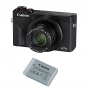 Canon PowerShot G7 X Mark III Kit cu Acumulator Negru