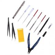 ELECTROPRIME 11Pcs Modeler Basic Tools Craft Model Tool Set for Gundam Model Building Kit