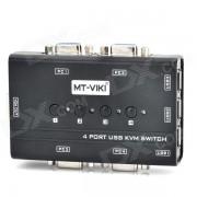 MT-460KL 4-Port USB KVM Manual Switcher - Negro
