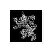 Pingente - House Of Lannister - Folheado A Prata