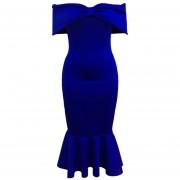 Vestido de Noche E-Thinker con lazo de hombro E-Thinker para mujer - Azul