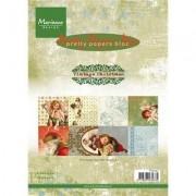Marianne Design Papiery świąteczne Vintage Christmas 15x21 cm 32 szt.