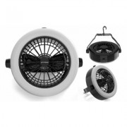 2 In 1 Camping Lantern with Ceiling Fan, Portable Tent Light with 12 LED Lights Black Lighting Fixtures & Ceiling Fans