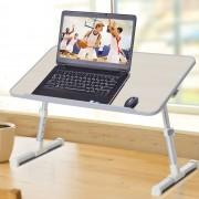 HOMCOM ® Mesa de Ordenador Ajustable y Plegable Soporte Escritorio 54x30x22.5-32cm
