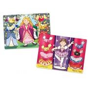Melissa Doug Girls Mix n Match Dress Up Peg Princess Ballerina Puzzle Bundle