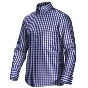 Maatoverhemd blauw/wit 53191