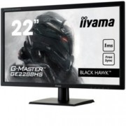 "Монитор IIYAMA GE2288HS-B1, 21.5""(54.61 cm) TN панел, FullHD, 1ms, 12000000:1, 250 cd/m2, HDMI, DVI"