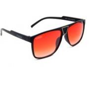 Els Rectangular Sunglasses(Red)