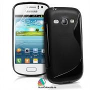 Husa Samsung S6810 Galaxy Fame Silicon Gel Tpu S-Line Neagra