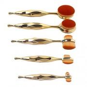 ELECTROPRIME 5pcs Oval Makeup Cosmetic Eyeshadow Set Powder Foundation Lip Brushes Tool
