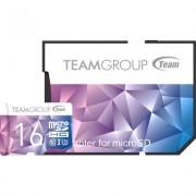 Карта памет Team Group Color Card II 16GB Micro SDHC/SDXC UHS-I U3 + SD Adapter