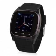 M26 BT Smart Watch con reproductor de musica de llamada de telefono para IOS Android - Negro