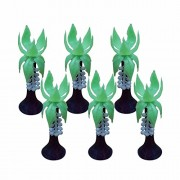Asian Hobby Crafts Artificial Toy Plastic Project Trees - Coconut Tree (6 Pieces)