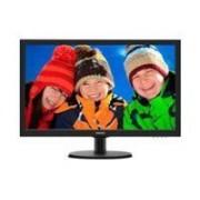 Philips 223V5LSB/00 Ecran plat 21.5, matrice active TFT, résolution 1920 x 1080, luminosité 250 cd/m2, contraste 1000:1 / 10000000:1 (dynamique), temps de réponse 5 ms, angle de vision 170/160°, interfaces VGA / DVI-D, couleur noir, garantie 2 ans