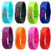 Fashion Sport LED Watches Candy Color Silicone Rubber Touch Screen Digital Watch