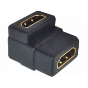 90 Degree HDMI Joiner / Coupler - female to female Standard HDMI Type A adapter