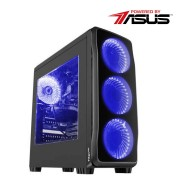 Sistem desktop Business v2 Powered by ASUS Intel Core i5-9400F Hexa Core 2.9 GHz 8GB RAM DDR4 nVidia GeForce GTX 1650 SUPER TUF Gaming O4G 4GB GDDR6 128bit SSD 240GB + HDD 1TB DVD-RW FreeDos Black