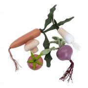 Sebra Träleksaker Grönsaker
