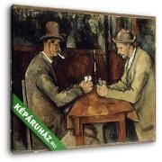 Paul Cézanne: Kártyázók (2 férfi) (30x25 cm, Vászonkép )