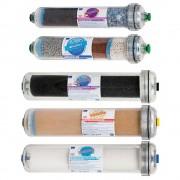 Set complet de 5 filtre cu carcasa transparenta