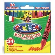 Set 24 Creioane Colorate Cerate Lavabile- Carioca