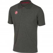 Castelli Race Day Polo Shirt - L - Melange Grey