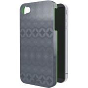 Carcasa LEITZ Complete Retro Chic, pentru iPhone 4/4S - gri/verde