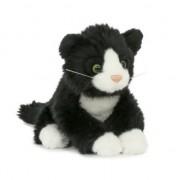 Semo Zwarte katten/poezen knuffeldier 18 cm