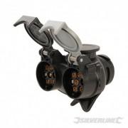 Twin Plug to Socket Towing Adaptor - 7-Pin N & S-Type to 13-Pin 922364 5024763195563 Silverline