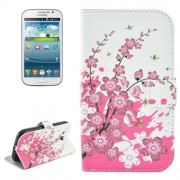 Cherry Blossom Pattern Flip Leather Case with Holder & Card Slots for Samsung Galaxy Grand Duos / i9082 Neo Plus / i9060