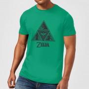 Nintendo Zelda Triforce Courage Wisdom Power Heren T-shirt - Groen - L - Groen