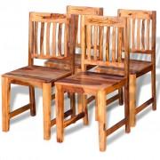 vidaXL vidaXL Scaune de bucătărie 4 buc, lemn masiv de sheesham