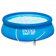 Piscina gonflabila Intex Easy Set 28142NP, pompa filtrare, 396 x 84 cm