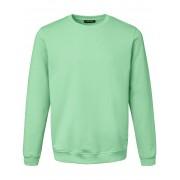 Louis Sayn Heren Sweatshirt van 100% katoen met logoborduursel Van Louis Sayn groen