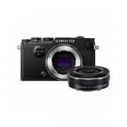 Aparat foto Mirrorless Olympus PEN-F 20.3 Mpx Black Kit EZ-M 14-42mm Pancake Zoom