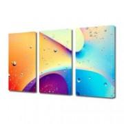 Tablou Canvas Premium Abstract Multicolor Culori Luminoase Decoratiuni Moderne pentru Casa 3 x 70 x 100 cm