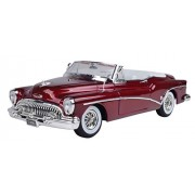 Motormax 1:18 1953 Buick Skylark Diecast Car (Timeless Classics Collection) Mounted On A Plastic Stand and with The Name Lable (Metallic Red)
