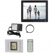 ER LCD TFT De 10 Pulgadas HD Photo Album Digital Picture Frame Music Video Player -Negro