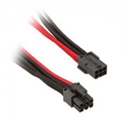 Cablu prelungitor Silverstone 6-pini PCIe, 250mm, Black/Red, PP07-IDE6BR