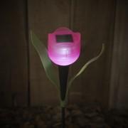 3 db kerti napelemes LED világítás tulipán lámpa 30 cm