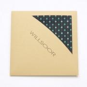 pentru bărbați batistă pentru a clape Willsoor (model 107) 5993 în negru culoare