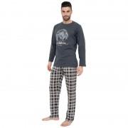 Gino Pánské pyžamo Gino šedé (79063) XL