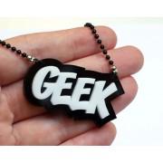 Ciondolo Milkool - Scritta Geek
