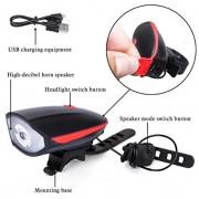Lanterna reincarcabila 2in1 cu LED si alarma pentru bicicleta