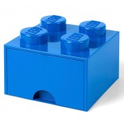 Lego Ladrillo de almacenamiento LEGO (4 espigas) - 1 cajón - Azul