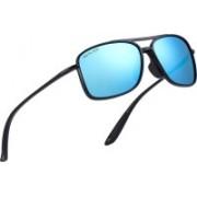ROYAL SON Retro Square Sunglasses(Blue)