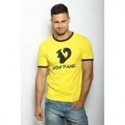 "Epatage Мужская веселая футболка с принтом ""Белки"" желтого цвета Epatag RT060123m-EP распродажа"
