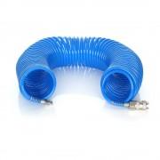 Furtun pneumatic spiralat pentru compresor de aer, 8 bar, 5x8mm, 10m
